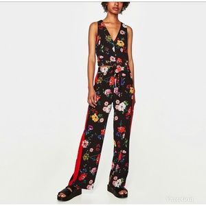 Zara floral trousers pants